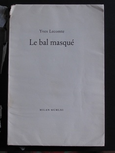 Le Bal Masque by Yves Lecomte (illus. CESARINO MONTI) Artists and Livres d'Artistes > MONTI