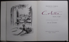 Colette ''Mon Ami'' by Francis Carco ( illus. Charles-Marcel ECHARD ) Rare and Interesting - Livres français
