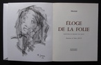 Eloge de la Folie by Erasmus (illus. THERESE JOUVE)